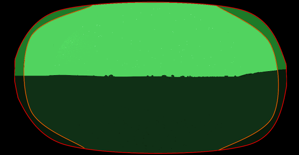 Un petit montage pour apercevoir ce à quoi la vue procurée par les NVG devrait ressembler.
