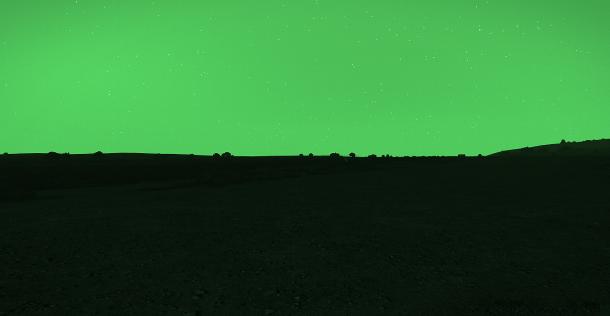 La vision nocturne en écran complet, fournie par l'addon de maquez [Q-Net]. De la triche...? Si peu, si peu...