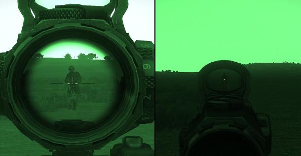 ...autre exemple avec les deux optiques superposées du RCO.