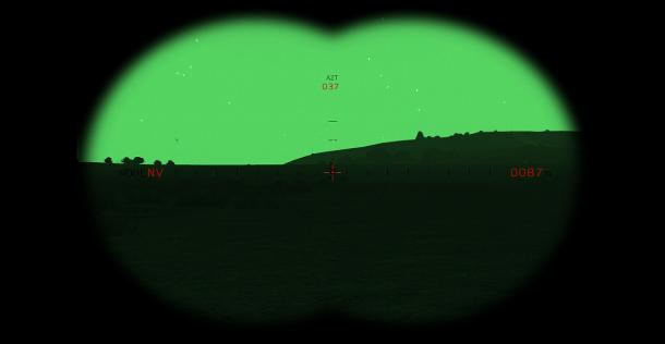 Le Rangefinder s'utilise aussi bien de jour que de nuit. Il calcule en permanence la distance qui sépare son utilisateur du point lumineux virtuel qu'il désigne.