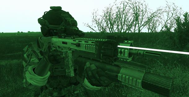 Faisceau infrarouge en action!